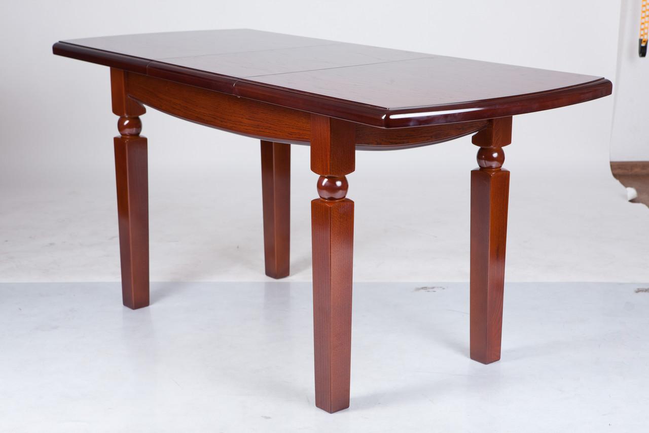 Стол раскладной Кайман 1200(+400)*700 каштан. Массив дуба.