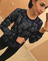 """Модный, женский свитер отличного качества """"100% хлопок с принтом""""  Фабричный Китай! РАЗНЫЕ ЦВЕТА"""