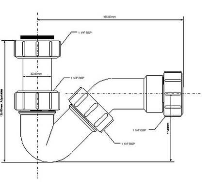 Сифон для биде без слива ТМ McAlpine HC-22, фото 2