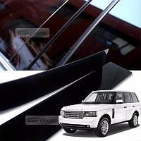 Land Rover Range Rover Vogue L322 2003-12 черные глянцевые накладки молдинги на дверные стойки Новые