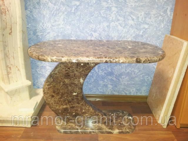 Фигурный столик из мрамора СЛЛМ - 43