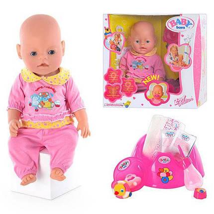 Кукла Пупс Baby Born (Беби Борн) BB 8001-3. 9 функций, фото 2