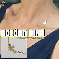 """Украшение на шею Золотая птица - """"Golden Bird"""""""