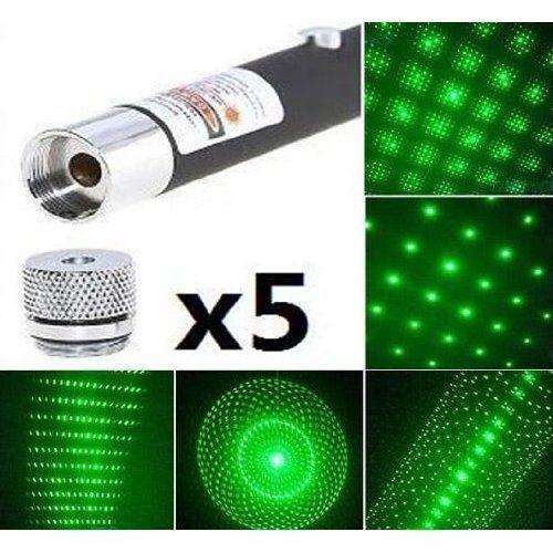 Лазерная указка Green Laser Pointer, 5 насадок