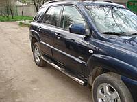 Боковые пороги Hyundai Tucson 2004