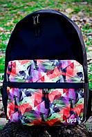 Небольшой рюкзак 12 л УПС, UPS00103-11, черный /мозаика/