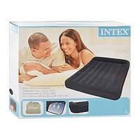 Надувной матрас Intex 66768 с велюровым покрытием+сумка