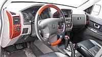 Руль дерево Mitsubishi Pajero Wagon 3 + подушка Airbag MR527359