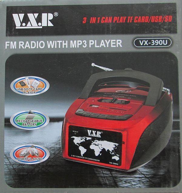 Радиоприемник с Mp3 проигрывателем VX-390U