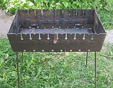Раскладной мангал чемодан на 10 шампуров 2 мм