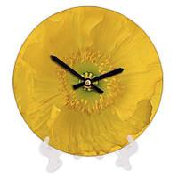 Круглые часы с принтом Цветок 18 см