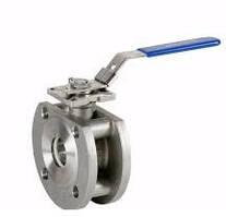Кран шаровый Genebre арт 2118 AISI 316 Ду-15 фланцевый моноблок из нержавеющей стали