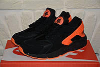 Мужские кроссовки Nike Air Huarache Black/Orenge