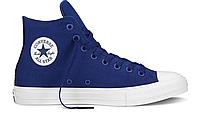 Кеды мужские  Converse Chuck Taylor All Star II High (blue) - 04Z