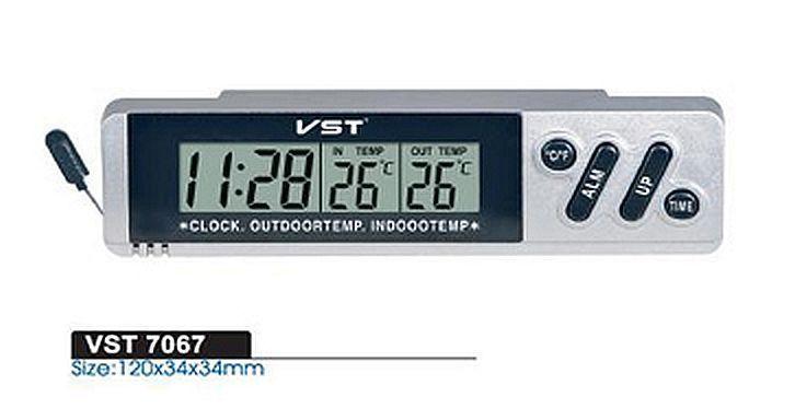 Часы автомобильные с выносным термометром VST 7067 (VST 7066)