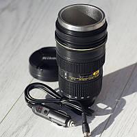 Автомобильная кружка объектив Nikon с подогревом., фото 1