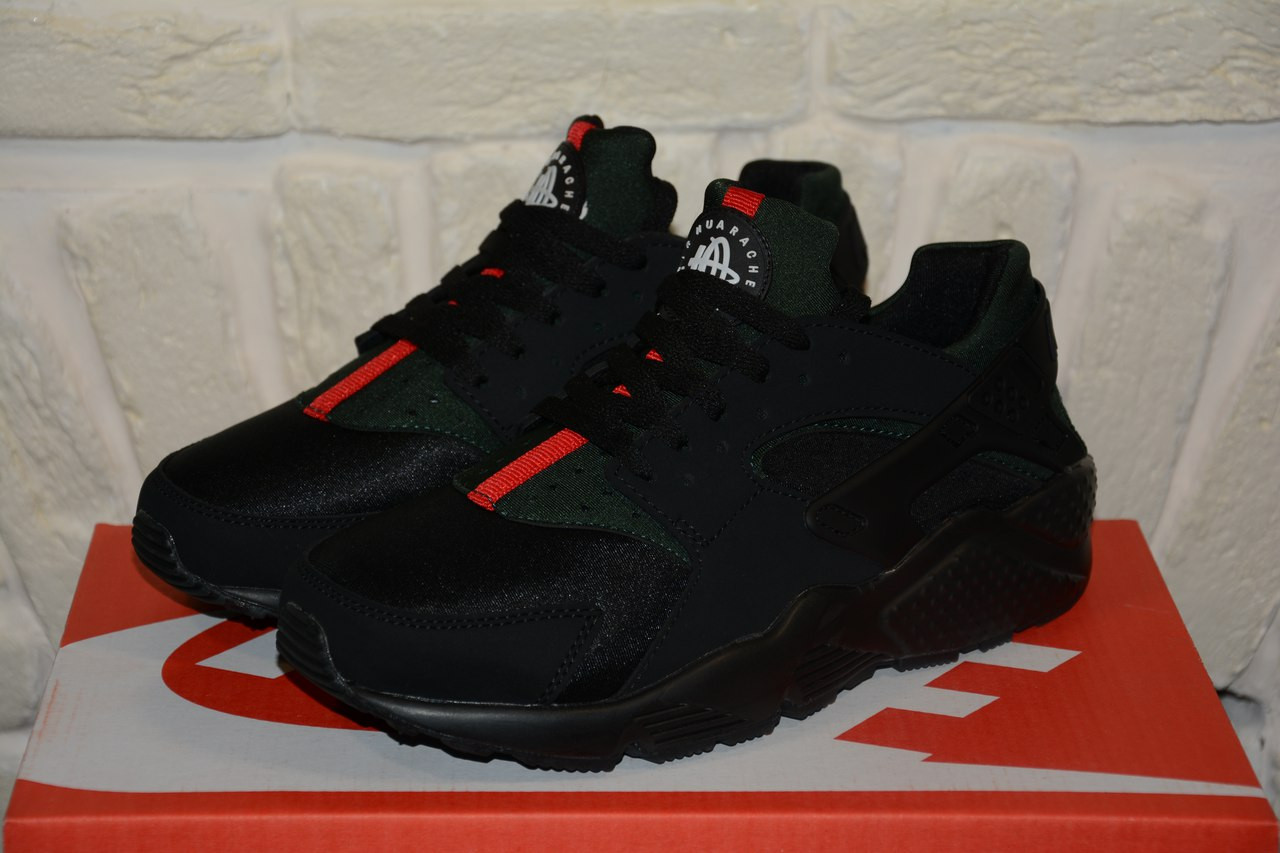 cheap for discount 2ac77 32bfd Мужские кроссовки Nike Air Huarache Gucci Black(ТОП РЕПЛИКА ААА+) 44(ТОП  РЕПЛИКА ААА+)
