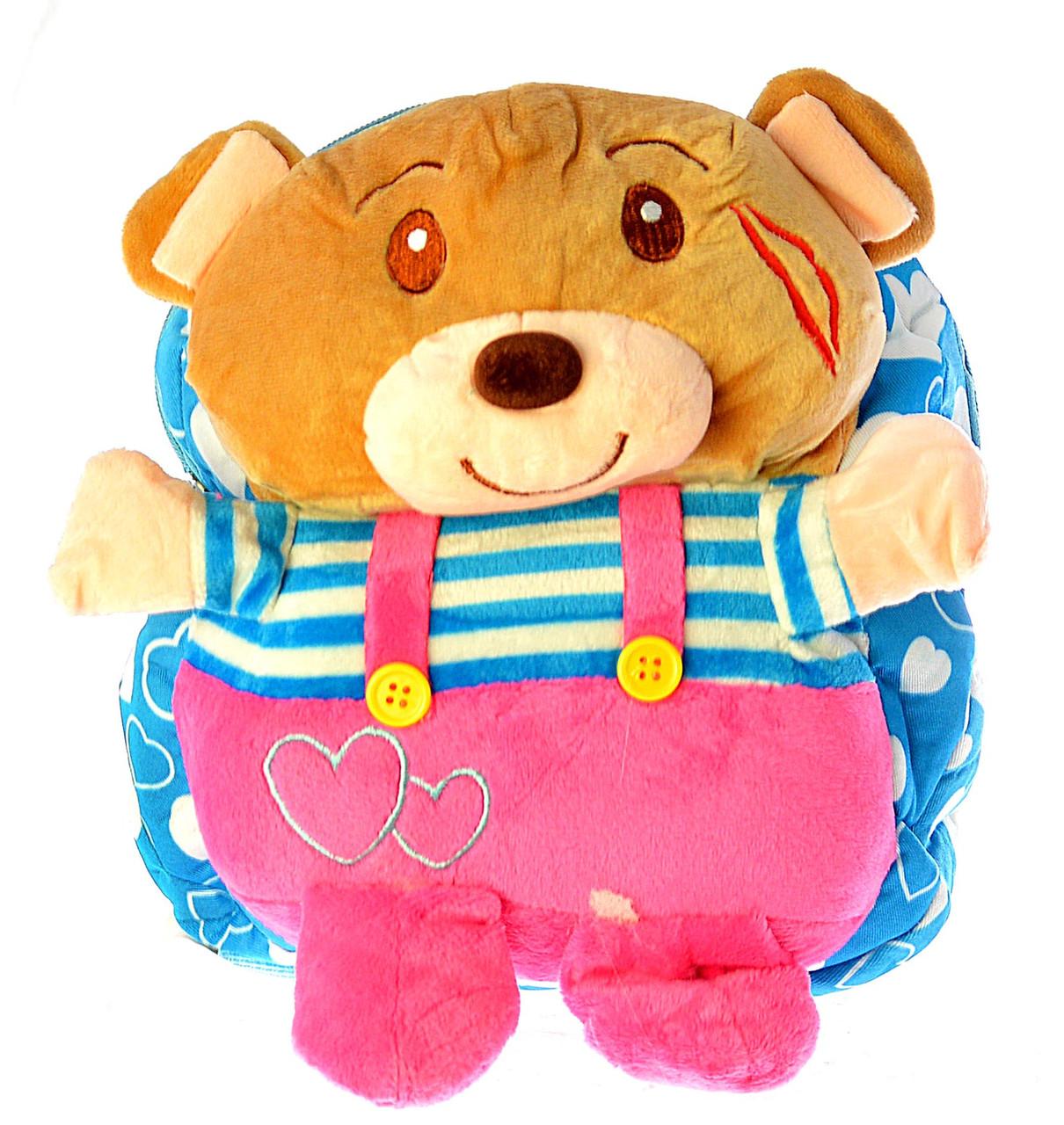 """Рюкзак детский """"Мишка"""" розовые штаны 0416"""