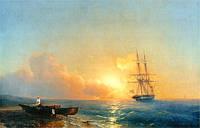 Айвазовский Иван - Рыбаки на берегу моря (1,5х1 м)