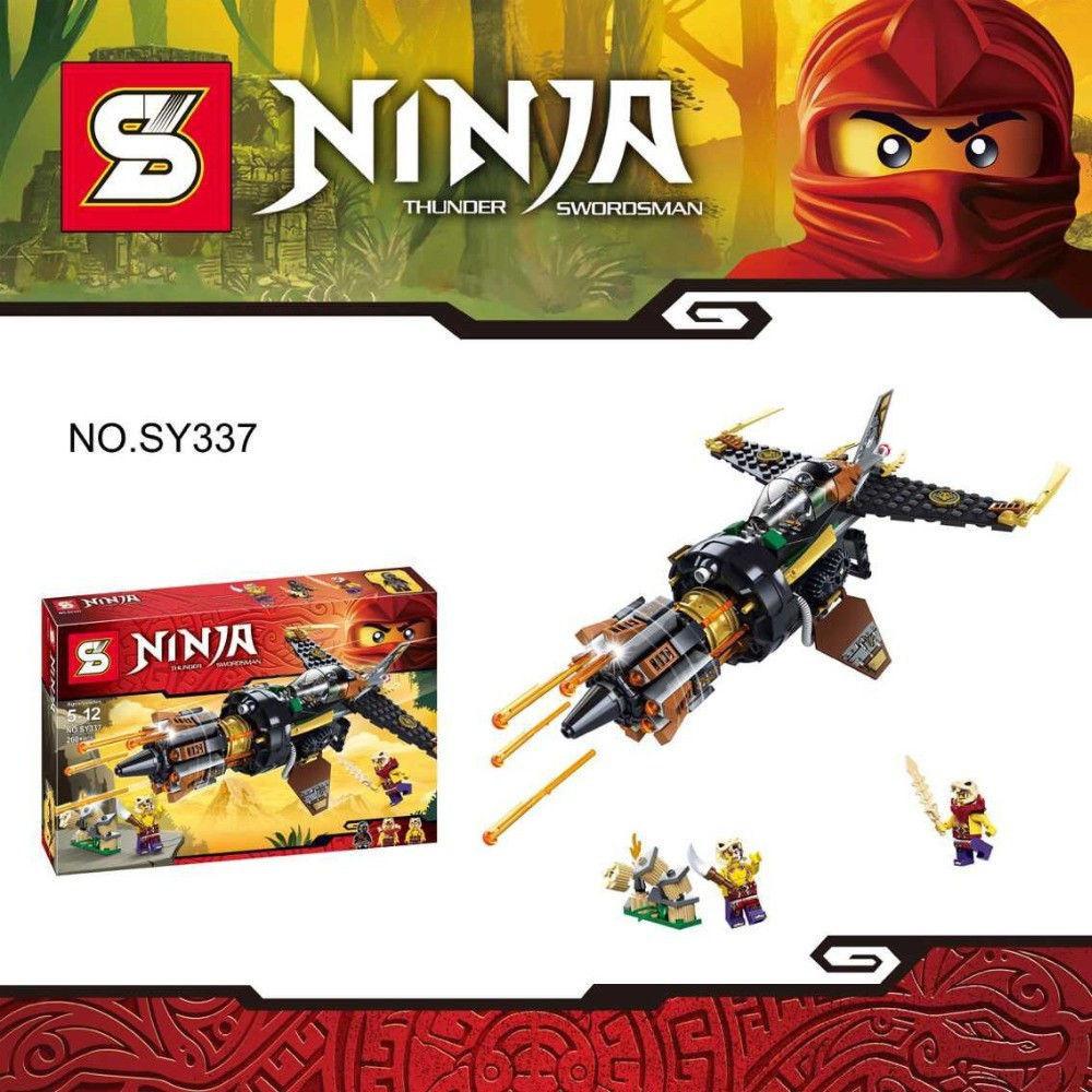 Конструктор Bela NINJA / Ниндзя SY 337 Скорострельный истребитель Коула (аналог Lego Ninjago 70747)