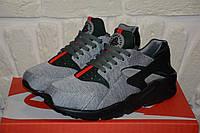 Мужские кроссовки Nike Air Huarache Gucci Gray/Black