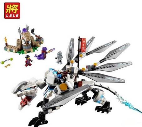Конструктор Lele серия Ninja / Ниндзя 79111 Титановый дракон (аналог Lego Ninjago 70748), фото 2