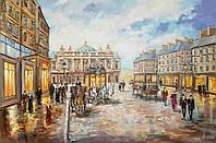 «Как прекрасен вечерний город» картина маслом