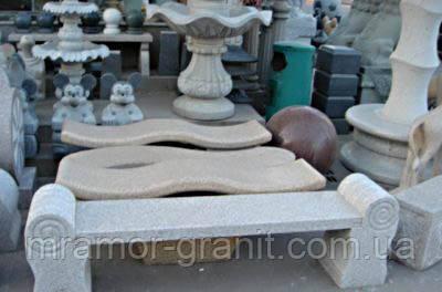 Скамейки из натурального камня СЛЛМ - 60