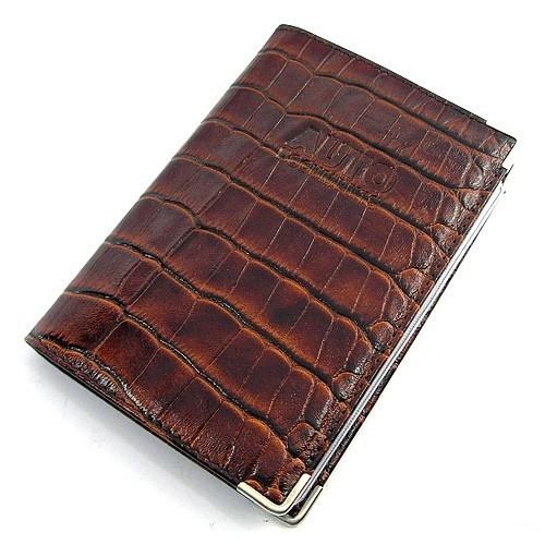 Обложка для прав уголок кожаная коричневая Desisan Турция