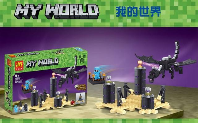 Конструктор Lele 79073 Дракон Края (аналог Lego Майнкрафт, Minecraft 21117)