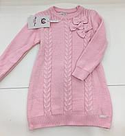 Детский вязаный свитер для девочки на 3 - 5 лет