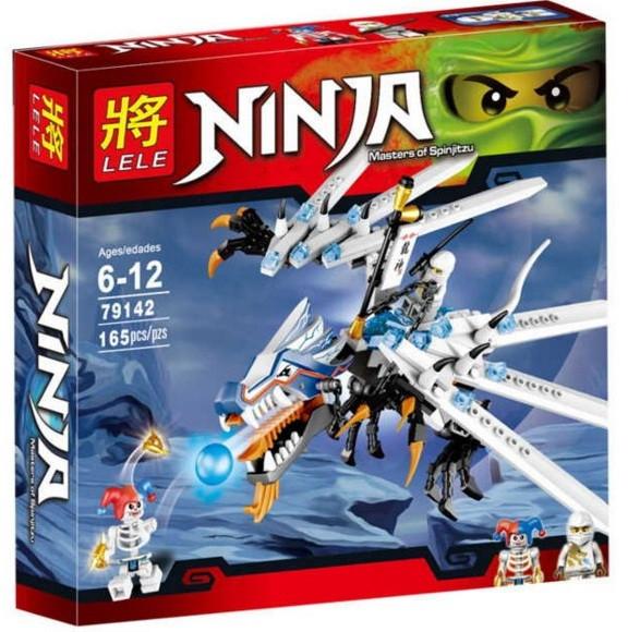 Конструктор Lele серия Ninja / Ниндзя 79142 Атака Ледяного Дракона (аналог Lego Ninjago 2260)