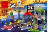 Конструктор Brick Enlighten Пиратская серия 309 (Остров скелета)