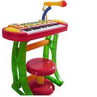 Детский синтезатор 3132A cо стульчиком