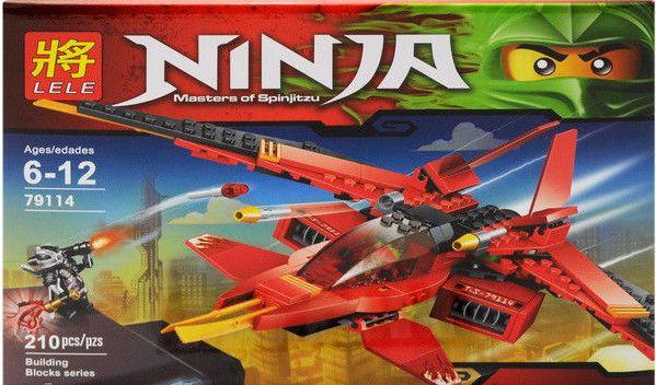 Конструктор Lele серия Ninja / Ниндзя 79114 Истребитель Кая (аналог Lego Ninjago 70721)