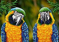 """Схема для вышивки бисером """"Попугаи"""", А3"""