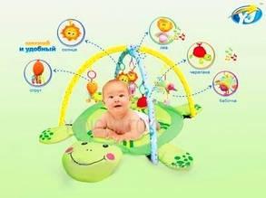 Развивающий коврик для малышей Черепаха 898-112B Приятный зеленый цвет , фото 2