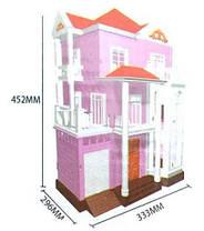 Великий Будиночок для флоксовых тварин Happy Family 1513 триповерховий зі світлом (аналог Sylvanian Families), фото 3