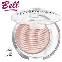 Bell HypoAllergenic - Тени для век 1-цв. Shimmering Sands Тон 02 нежно розовые мерцающие