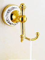 Вешалка настенная крючок в золоте на кухню или для ванной комнаты