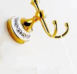 Вешалка настенная крючок в золоте на кухню или для ванной комнаты 0258, фото 2