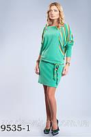 Трикотажное платье в двух расцветках, свободного силуэта 9535