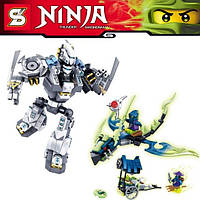 Конструктор Bela серия Ninja / Ниндзя SY397 Робот Зейна (аналог Lego Ninjago 70737)
