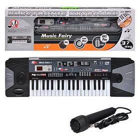 Детский синтезатор MQ-805 USB. MP3, 37 клавиш,16 тонов,10 ритмов;