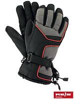 Перчатки REIS IRBIS утепленные зимние, усиленные кожей на ладони, до -30. Для лыжников, сноубордистов, рыбаков