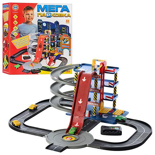 Игровой набор Гараж Мега парковка 922-7. 4 этажа. 4 машинки