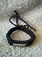 Кожаный браслет на руку DANCE ручная работа