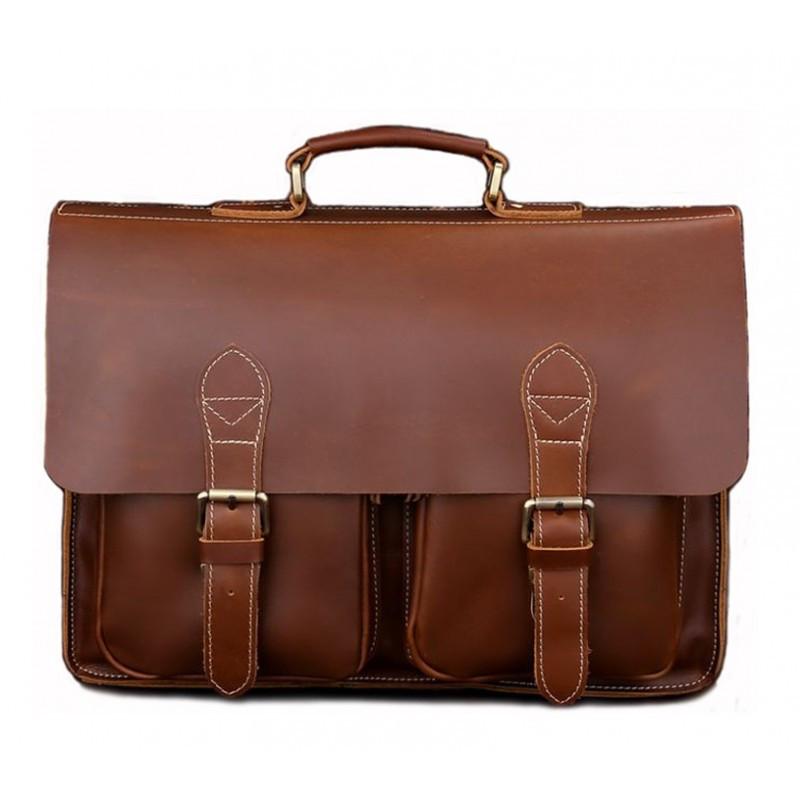 Кожаный портфель TIDING BAG 7105X-1