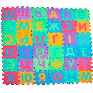 Развивающий коврик-мозаика Bambi M 0379 Абетка, фото 2