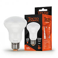 LED Светодиодные лампы Tecro T-R63-8W-4K-E27, 4000K, 720Лм, угол 120, (01-10-80) шт.